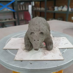 Pottery - polar bear made out of clay